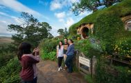 Hobbiton Movie Set Tour & Waitomo Glowworm Caves Small Group Tour from Rotorua