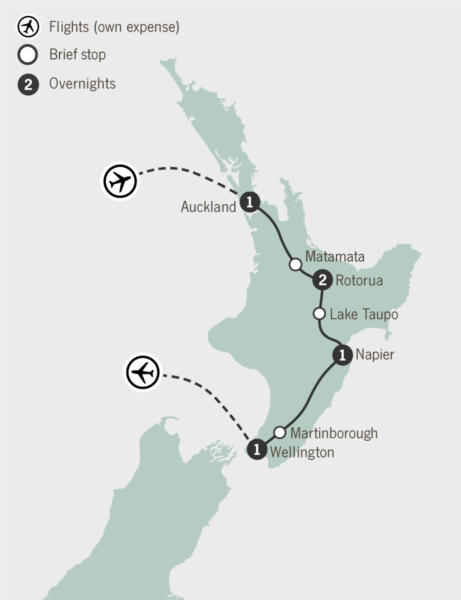 Total  Days New Zealand North South Island Itinerary