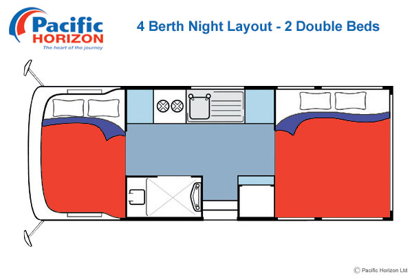 Pacific Horizon 4 Berth Motorhome Night Time