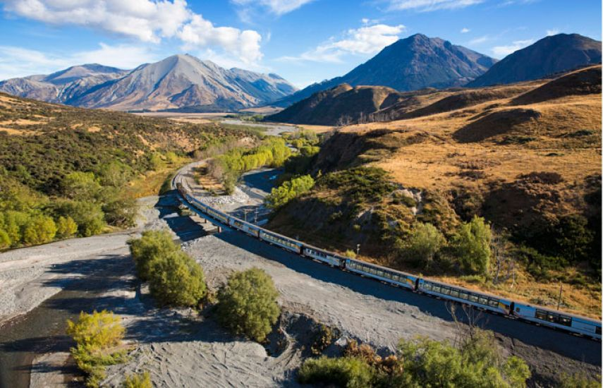 Franz Josef to Christchurch via TranzAlpine Train