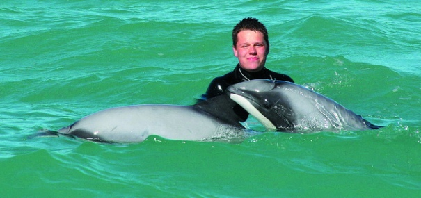 Swimming with Dolphins from Akaroa