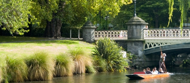 Punting on Avon River Christchurch