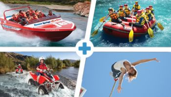 Quad Challenge: Jetboat, Raft, Bungy, Twin-Seat Quad Bike for Two