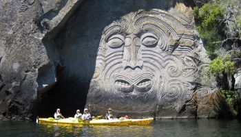Half Day Maori Rock Carvings Kayaking