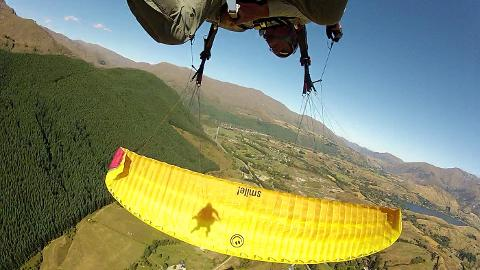 Coronet Peak Summer Paragliding Aerobatic Flight