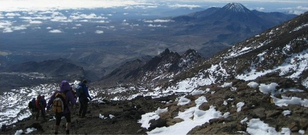 Descending Mt Ruapehu