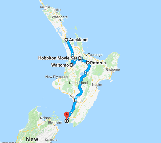 Map of 7 Day Northern Scenes Self Drive