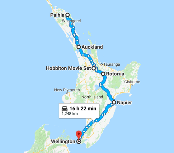Map Of New Zealand North Island.8 Day North Island Escape Self Drive Go New Zealand