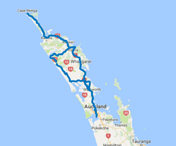 Map of 7 Day Boutique Northland Self Drive